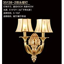 WYMBS European-style living room all copper bedroom bedside lamp base Europe living room TV wall wall lights, sect. D