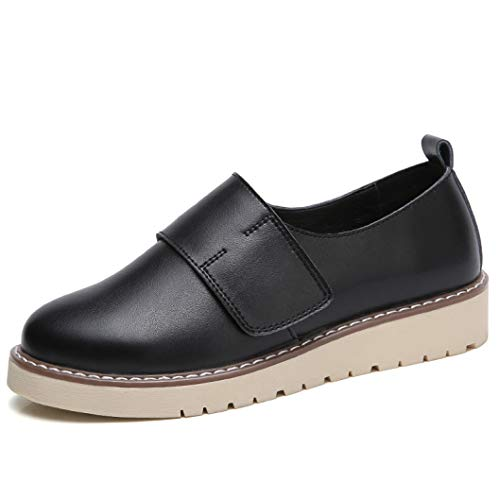 adf89a3ad3bf5 StarttWin Women Platform Hoop &Loop Flats Shoes Summer Non Slip Low Heel  Comfortable Casual Loafers Shoes