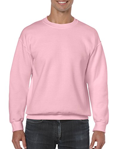 Gildan Men's Heavy Blend Crewneck Sweatshirt - Small - Light Pink