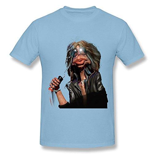 Kevin Steven Tyler - Aerosmith T Shirt For Mens SkyBlue XXL ()