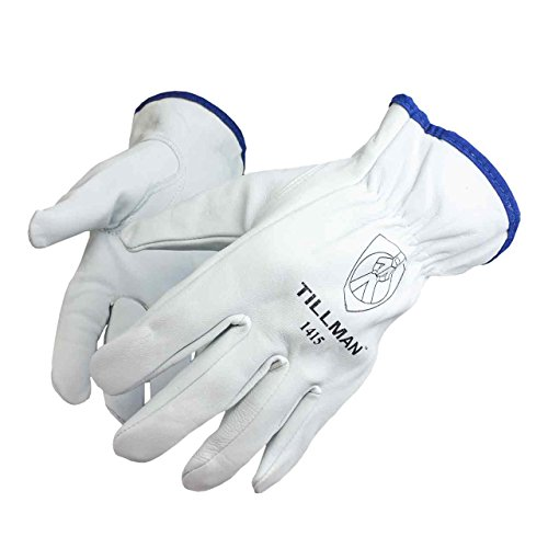 (Tillman 1415 Unlined Top Grain Goatskin Drivers Gloves, Medium)