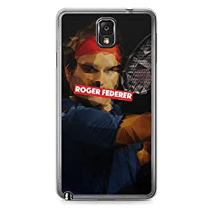 Roger Federer Samsung Note 3 Transparent Edge Case - Heroes Collection