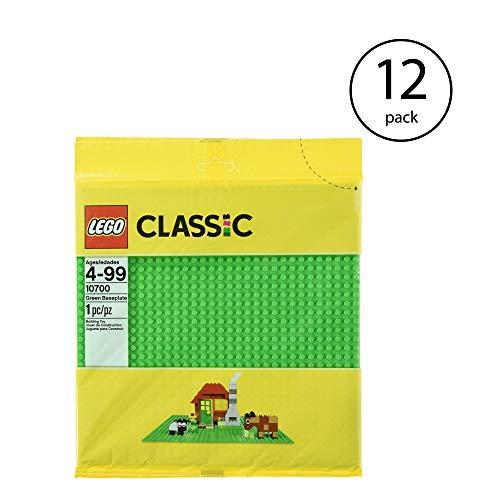 LEGO Base 32 x 32 Stud Building Plate 10 x 10 Inch Platform, Green | 10700 (12 Pack)