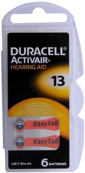 Duracell Akustische Batterie N 13 6 Stück Bürobedarf Schreibwaren