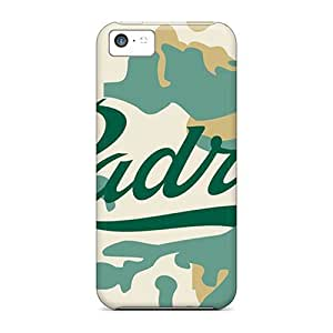 MMZ DIY PHONE CASEBumper Hard Phone Covers For iphone 5c With Unique Design Fashion San Diego Padres Skin JacquieWasylnuk