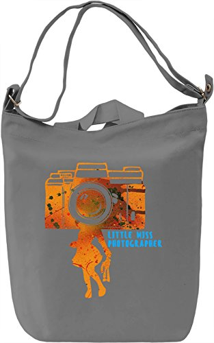 Little Miss Photographer Borsa Giornaliera Canvas Canvas Day Bag| 100% Premium Cotton Canvas| DTG Printing|
