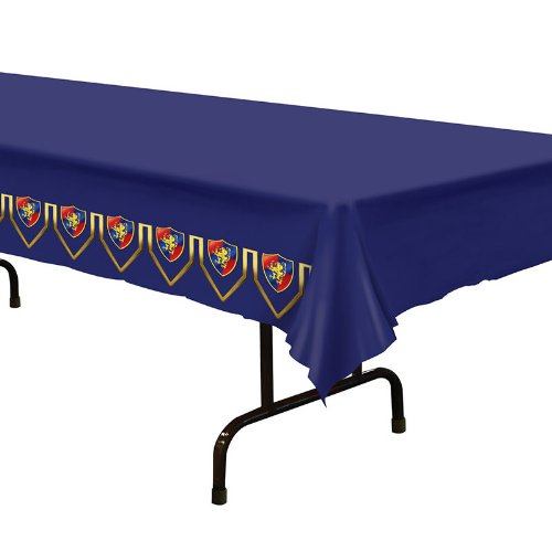 Beistle 57056 Medieval Table Cover, 54-Inch by 108-Inch (Medieval Party Decorations)
