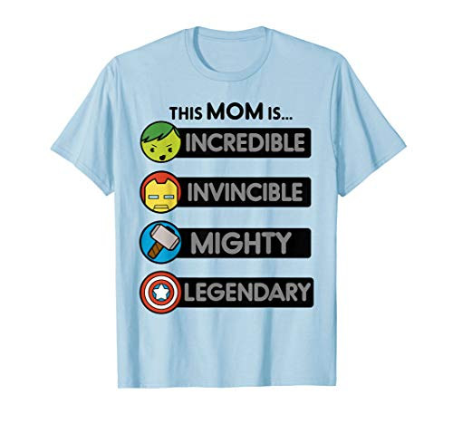 Marvel Mother's Day Kawaii Hero Strengths Graphic T-Shirt]()