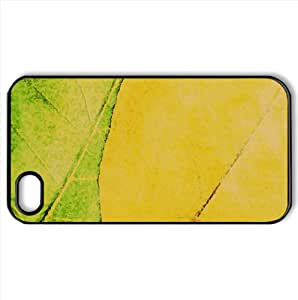 Green And Yellow Leaves Texture Watercolor style Cover iPhone 4 and 4S Case