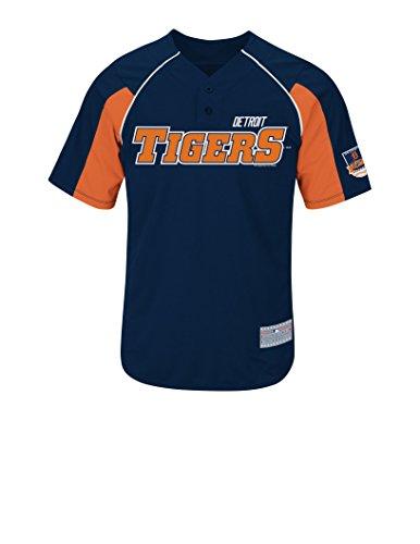 Detroit Tigers White Authentic Jersey (MLB Detroit Tigers Men's Verlander 35 Jersey, Athletic Navy/Dark Orange/White, Medium)