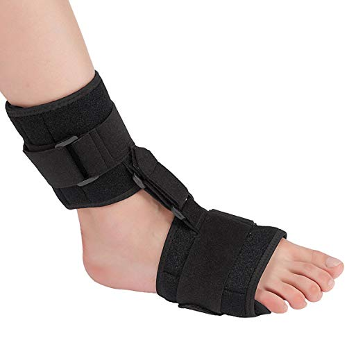 Ankle Support Drop Foot Brace Orthosis – Pain Relief Plantar Fasciitis Splints Orthotics Corrector, Adjustable Assist Strap for Improved Walking Gait, Prevents Cramps Ankle Sprains for Men & Women