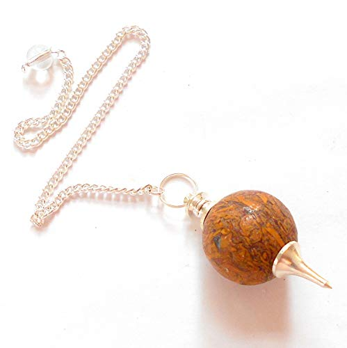 earthegy Miriam Stone Sephoroton Gemstone Pendulum for Divination and Dowsing