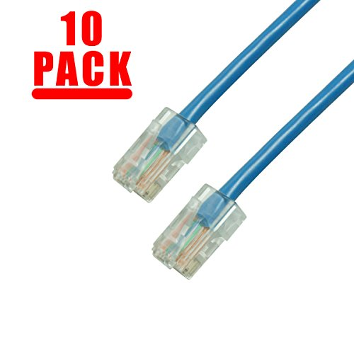 Gmax GRANDMAX 10-Pack CAT5e / 10FT/ Blue / RJ45 Ethernet Network Patch Cable, 350MHz, UTP
