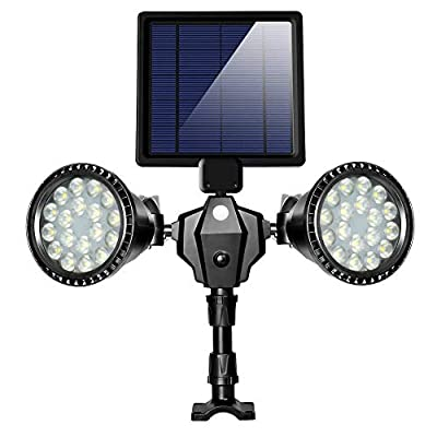 Solar Lights Outdoor, xtf2015 Upgraded Motion Sensor Solar Light Double Spotlights 36 LEDs 1000LM Waterproof Solar Powered Security Lights for Garden Patio Porch Deck Yard Garage Driveway Outside Wall