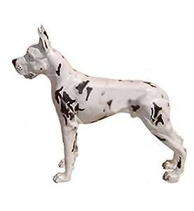 Deutsche Bulldog lebensgroß 112cm para exterior de polirresina