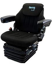 Pneumatisch geveerde bedrijfsvoertuigstoel HMNFZT6, sleeppersstoel, tractorstoel Harita Terra T6 - stoffen bekleding