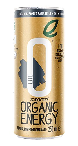 Scheckters Organic Energy Drink, Lite Lemon Pomegranate, 8.4  Fl. Oz (Pack of 12) (Packaging May Vary)