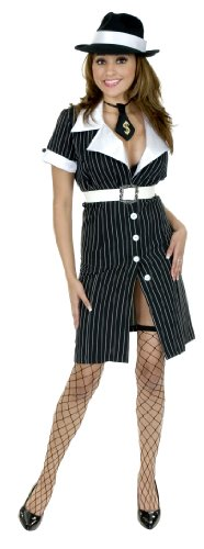 Gangster Moll Dress Costume - X-Large]()
