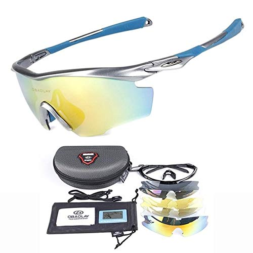 VDV Bicycle Accessories Polarized Cycling Glasses Riding Sunglasses Anti-UV Shortsighted Lenses Holding Glasses Goggles Fishing Eyewear with 4PCS Lenses gt Bicycle Accessories-H (Batman Contact Lenses For Eyes)