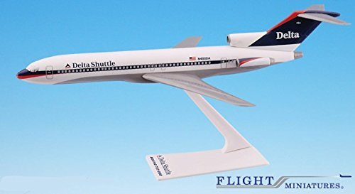 (Delta Shuttle (97-00) Boeing 727-200 Airplane Miniature Model Plastic Snap Fit 1:200 Part# ABO-72720H-033)
