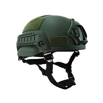 lzndeal Casco Ejército de Combate de la Cabeza de protección Airsoft Wargame Paintball Field Gear Accesorios