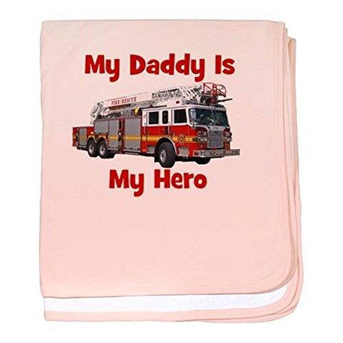 CafePress - Daddy Is My Hero FireTruck baby blanket - Baby Blanket, Super Soft Newborn Swaddle