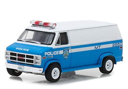 1987 GMC Vandura Van New York City Police Department (NYPD) Hot Pursuit Series 28 1/64 Diecast Model Car by Greenlight 42850 C ()