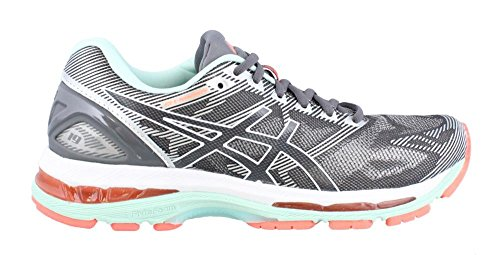 ASICS Women's Gel-Nimbus 19 Running Shoe, Carbon/White/Flash Coral, 8 D US by ASICS