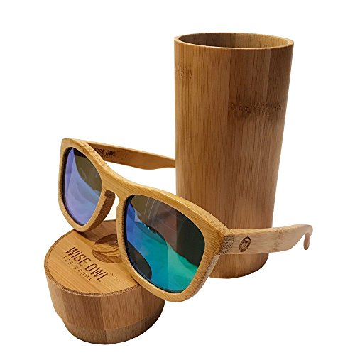 Unisex & 100% Bamboo Wood POLARIZED Sunglasses | Eco-Friendly & Sturdy - Wood Glasses