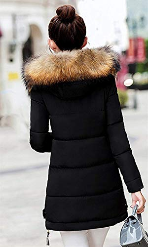 d'hiver longues vestes air avec plein Slim classique élégante mode journée veste Transition longue capuche pour femme plus fourrure chaudes Fit à Manteaux matelassée produit en femmes manches dRqdXw