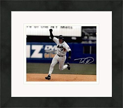 Todd Pratt Autographed Photograph - 8x10 1999 NLDS Home Run Matted & Framed - Autographed MLB Photos ()
