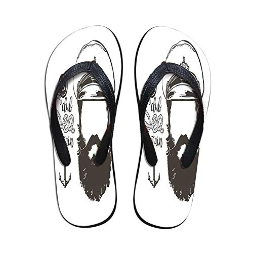 Anchor Decor Stylish Flip Flops,Portrait of a Faceless for sale  Delivered anywhere in Canada