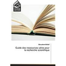 GUIDE DES RESSOURCES UTILES POUR LA RECHERCHE
