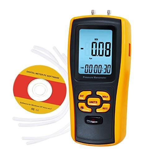 Digital USB Pressure Manometer Instrument Tester Differential Gauge, 11 Measurement Units by DANOPLUS