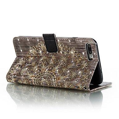 Fundas y estuches para teléfonos móviles, Para el iphone 7 más 7 patrón del mandala del efecto 3D patrón material caja de la carpeta caso del teléfono 6 más 6s 5 se ( Modelos Compatibles : IPhone 7 ) IPhone SE/5s/5