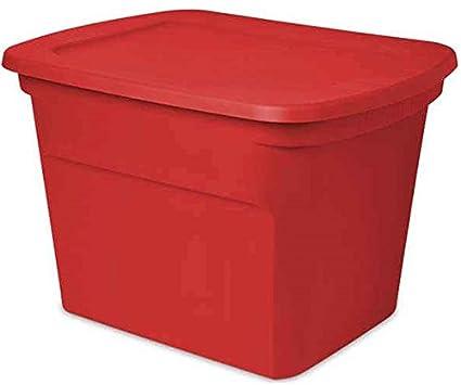 0daef241fb74 Sterilite 17316608 contenedor de almacenamiento, rojo, 18-Gal., debe comprar  en