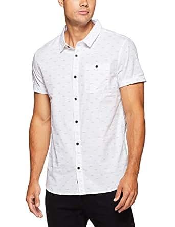 Mossimo Men's Corktown Shirt, White, XS