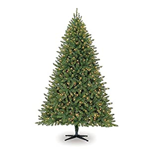 Darice 7.5 ft Hartford Pine Artificial Christmas Tree: Pre-Lit, Clear Lights 57