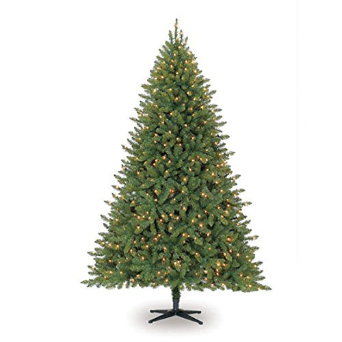 Lit Clear Lights - Darice 7.5 ft Hartford Pine Artificial Christmas Tree: Pre-Lit, Clear Lights
