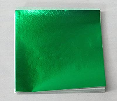 "500 4"" X 4"" Emerald Green Confectionery Foil Wrappers Candy Wrappers Candy Making Supplies"
