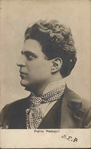 (Pietro Mascagni - Composer Music and Literature Original Vintage Postcard)