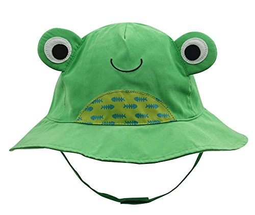 Connectyle Baby Infant Toddler Kids' UPF 50+ Sun Protection Hat Cute Cartoon Bucket Sun Hats Green