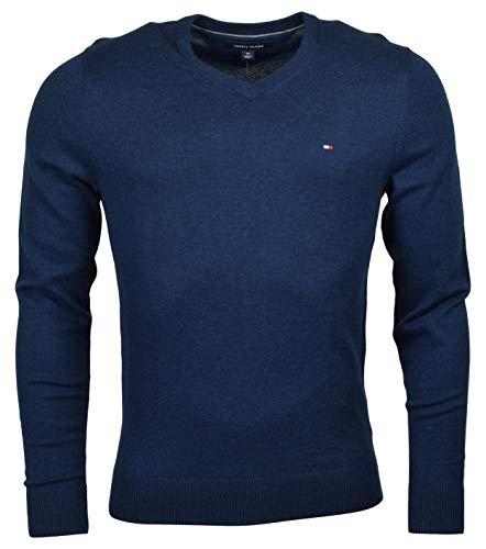 Tommy Hilfiger Men's Pima Cotton Cashmere Sweater (XXL, Navy)
