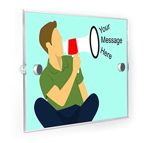 Megaphone Message House Sign Door Number Plaque ()