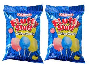 Fluffy Stuff Cotton Candy Bag: 24 Count - 2.5 oz (Pack of 2) by Charms (Image #2)
