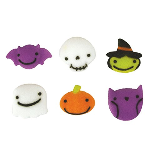 Halloween Frightful Charms Assortment Sugar Decorations Cookie Cupcake Cake 12 Count -