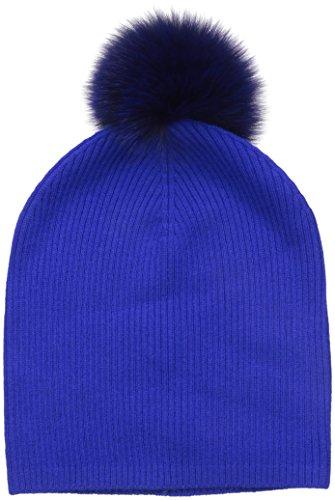 Sofia Cashmere not Applicable Cashmere Fur Pom Hat - Slouchy, cobalt/cobalt, ONE by Sofia Cashmere