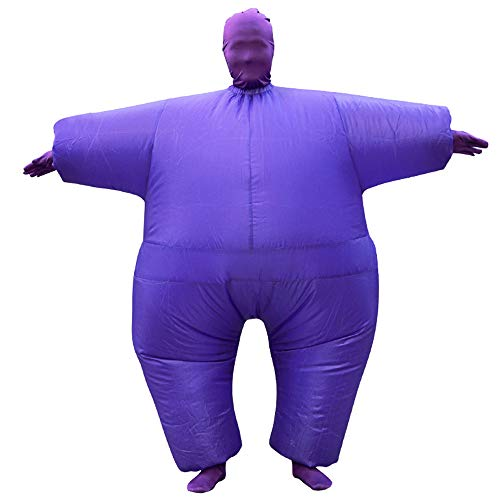 BBX Lephsnt Inflatable Full Body Suit Costume, Halloween Funny Inflatable Costume Whole Body Suit Adult (1-Purple)