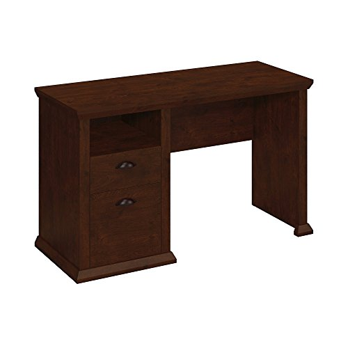 Bush Furniture Yorktown Home Office Desk in Antique Cherry (Desk Brown Antique)