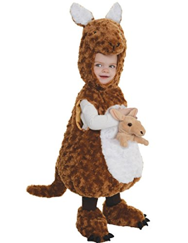 [Underwraps Baby's Kangaroo Belly-Babies, Brown/White, Large] (Childrens Kangaroo Costume)